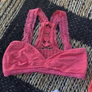 Free People | intimately XS Pink Lace Bralette